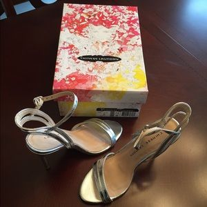 💕👠NEW in box Chinese Laundry Silver Heels 7.5👠